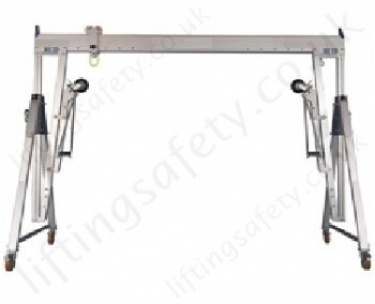 Aluminium Lifting Gantry Systems with Castors (Potentially Movable Under Load)