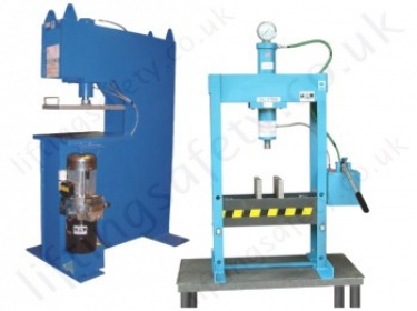 Hydraulic Workshop Presses - Lifting Equipment Specialists