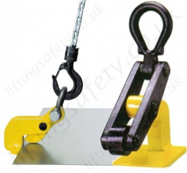 Camlok Horizontal Plate clamps for Lifting Steel Sheets Carried Flat