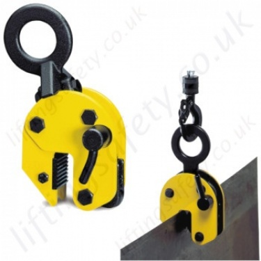 Camlok Vertical Plate clamps for Lifting Sheet Steel Carried Upright