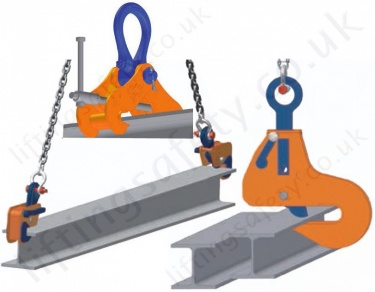 Crosby Steel Beam Lifting / Suspension Clamps - To Suit UB, RSJ, I Section or H Section