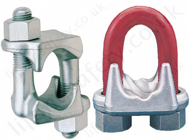 Crosby Wire Rope Clips, Bulldog Grips