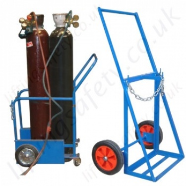 Gas Cylinder Push Trolleys - Manually Manoeuvred