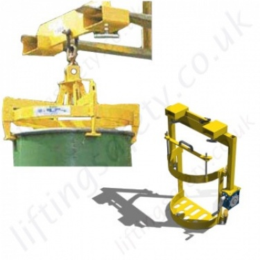 Egg Shaped Plastic Drum Hook Suspended (Crane Slung) Drum Attachments