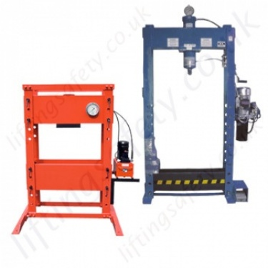 "Floor Mounted Hydraulic Workshop Presses, ""Electric Powerpack"" Operated"