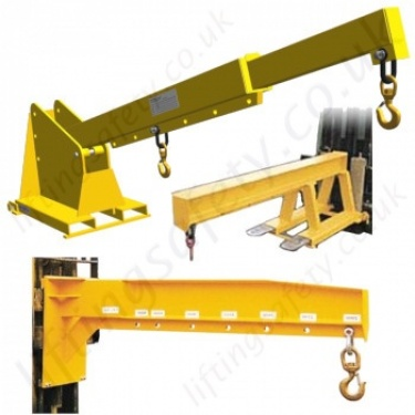 Fork Mounted Jib and Hook Attachments