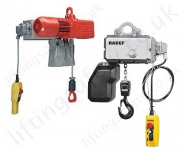 Hadef Electric Chain Hoists & Trolley Hoists up to 50 tonnes