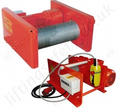 Hadef Electric Wire Rope Winches / Hoists for Pulling and Lifting Applications