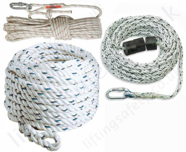 Synthetic Height Safety Fall Arrest Rope and Anchorage Lines