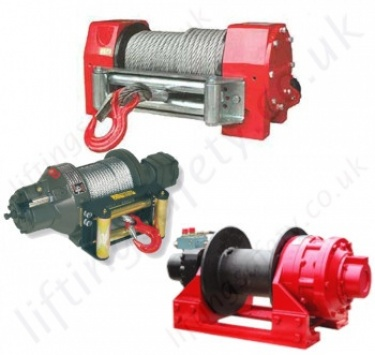 Hydraulic Vehicle Mounted Recovery Wire rope Winch / Hoists for Lifting or Pulling