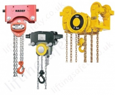 Monorail Trolley Hand Chain Hoists (Trolley Mounted Hoist) 250kg to 100 tonne