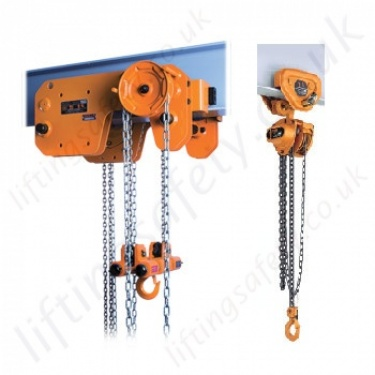 Kito Monorail Trolley Hand Chain Hoists (Trolley Mounted Hoist)