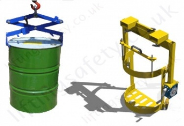 'L' Ring Plastic Drum Hook Suspended (Crane Slung) Drum Attachments