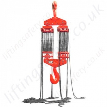 LiftingSafety Hook Suspended Hand Chain Hoists (Block & Tackle)