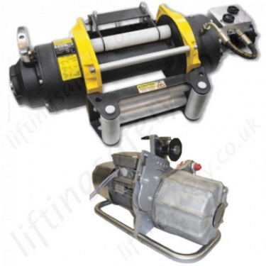 Hydraulic Wire Rope Winches / Hoists (Lifting and Pulling) - Lifting