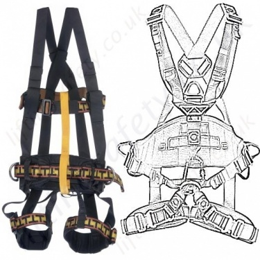 Miller Rope Access Fall Arrest Harnesses EN361, EN358 and EN831