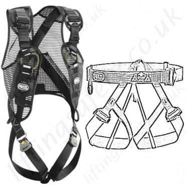 Black Height Safety Fall Arrest Equipment Ppe