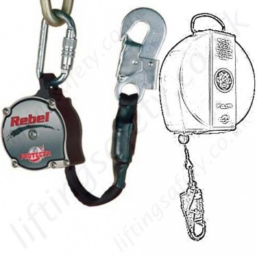 Protecta Fall Arrest Retractable Inertia Reel Blocks, Self Retracting Lifelines to EN360