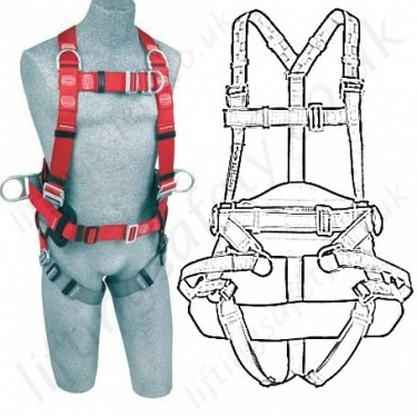 Protecta Fall Arrest Work Positioning Harnesses (With Belt) EN361 and EN358
