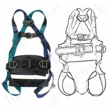 Ridgegear Fall Arrest Work Positioning Safety Harnesses EN361 EN358