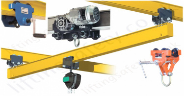 Runway Beam Monorail Crane Trolleys, Push, Geared & Electric
