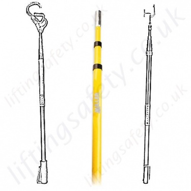 Telescopic Extension Pole for Height Safety Applications