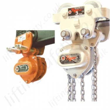 Tiger Monorail Trolley Hand Chain Hoists (Trolley Mounted Hoist)