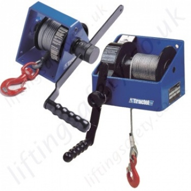 Tractel Hand Winches, Hand Operated Wire Rope Hoists - 150kg to 3000kg