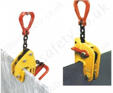 Tractel Topal Vertical Plate clamp for Lifting Sheet Steel Carried Upright