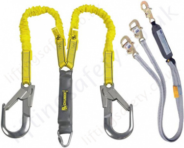 Fall Arrest Lanyards - Twin Leg 100% tie-off