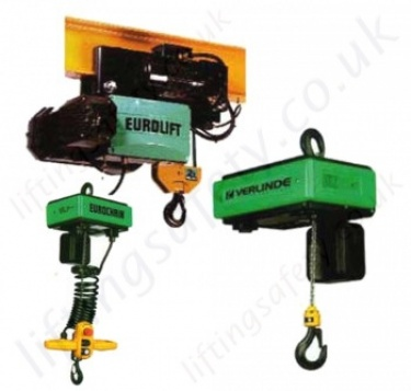 Verlinde Electric Chain Hoists up to 10 tonnes