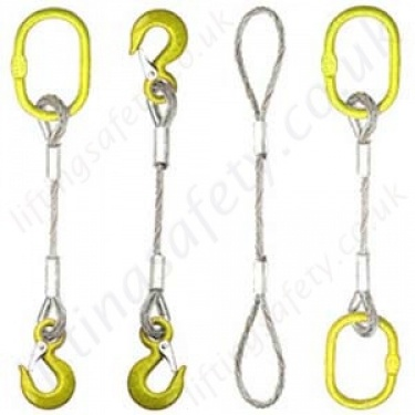 Wire Rope Lifting Slings, Assemblies, Fittings & Accessories