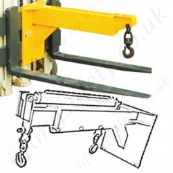 Carriage Mounted Fork Truck Jib Attachments