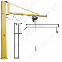 Column Mounted (Post), Free Standing Swing Jib Cranes