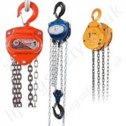 Hand/Manual Chain Hoists. Top Hook Suspended : 500kg to 100t