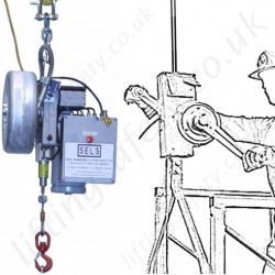 Man-riding Hoists & Rescue Winches, Electric & Manual Operation
