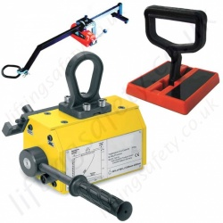 Lifting Magnets, Permanent, Battery Electric and Manual