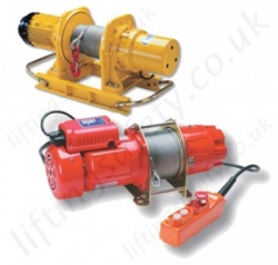 LiftingSafety Electric Wire Rope Winches / Hoists for Pulling and Lifting Applications