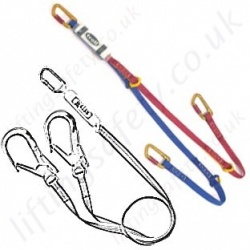 Miller Fall Arrest Lanyards, 100% tie-off - Twin Leg