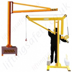 Portable Mobile Swing Jib Cranes