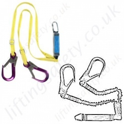 Ridgegear Fall Arrest Lanyards 100% tie-off - Twin Leg