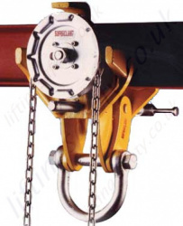 Riley Geared Travel (Chain Drive) Beam Trolleys - Monorail (I Beam)