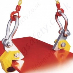 Riley Superclamp Horizontal Plate clamps for Lifting Steel Sheets Carried Flat