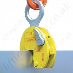 Riley Superclamp Vertical Plate clamps for Lifting Sheet Steel Carried Upright