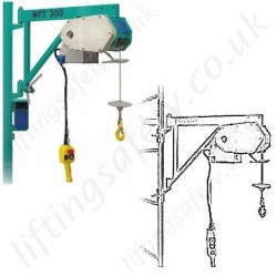 Scaffold Hoists, Wire Rope Builders Hoist