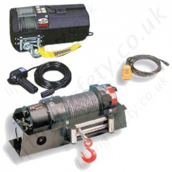 Electric Vehicle Mounted Recovery Wire Rope Winch / Hoists for Lifting or Pulling