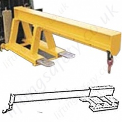Tine Mounted Fork Truck Jib Attachments