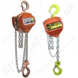 William Hackett Hand Chain Hoists, Hook Suspended (manual hoists)