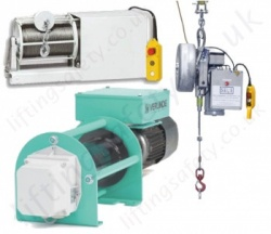 Wind Turbine Lifting Equipment, Wire Rope Hoists & Chain Hoists