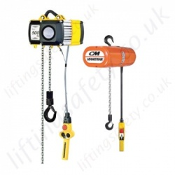 Yale Electric Chain Hoists, from 125kg to 10000kg